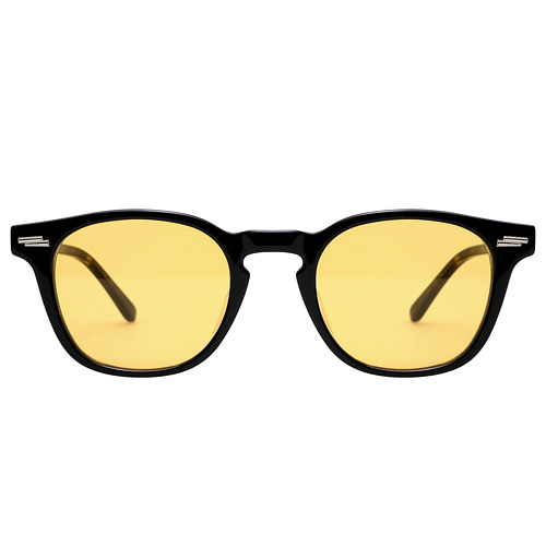Ginsberg - 05 Black & Mahogany(Yellow Tint)