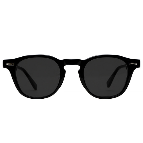 Ginsberg 46 2019 - Glossy Black Sunglasses(Smoke Black Lens)