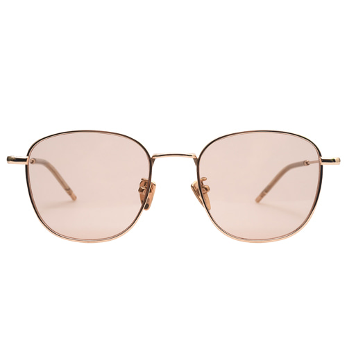 Holden Caulfield [rectangle] - Peach Gold(Pink Tint Sunglasses)